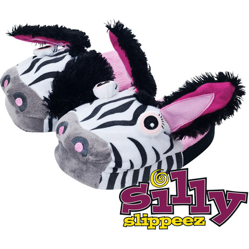 Silly Slippeez - Zanny Zebra - Glow in the Dark Slipper