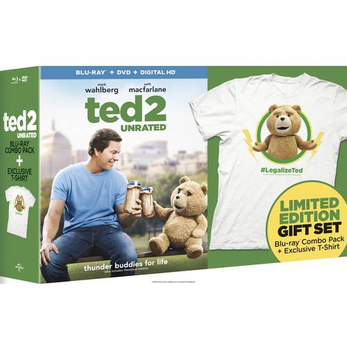 Ted 2 (Blu-ray + DVD + Digital HD + T-Shirt) (Walmart Exclusive) (With INSTAWATCH) (Widescreen)