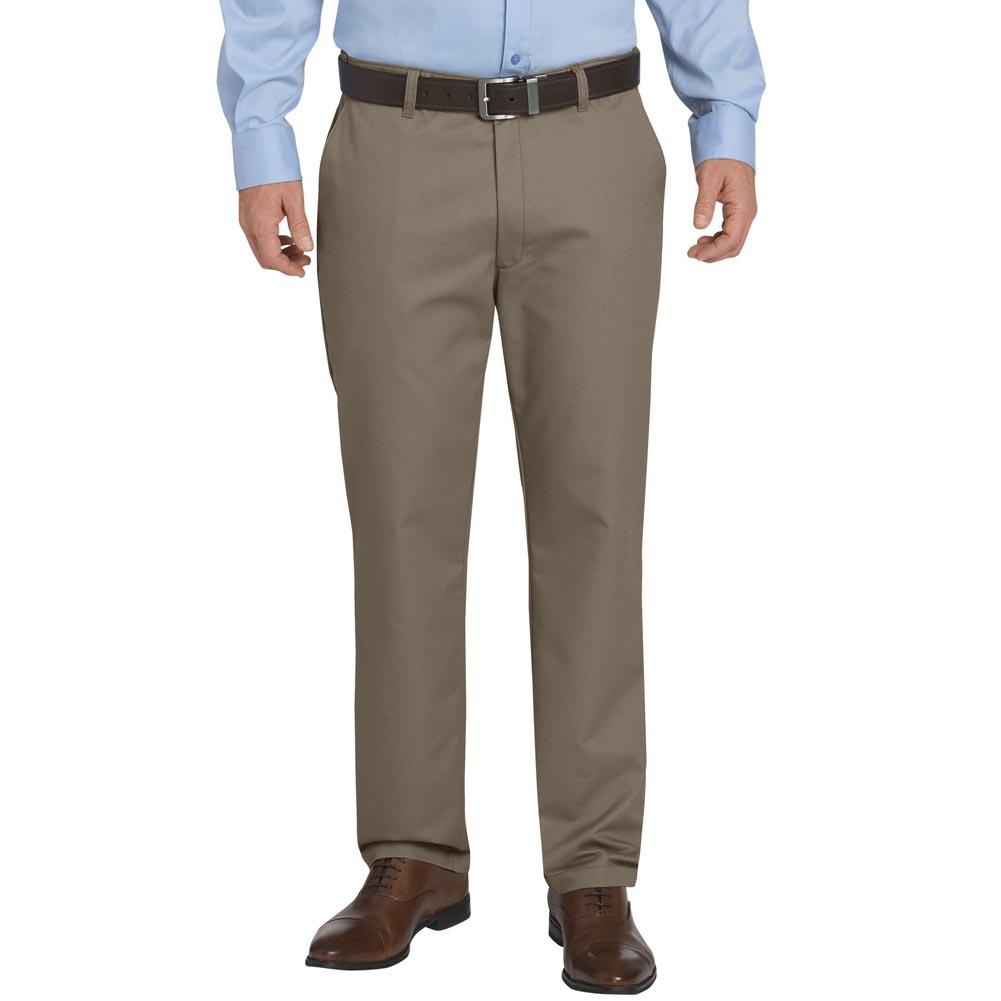 Dickies Men's Flat Front Sorona Flex Khaki Pants Rinsed P...