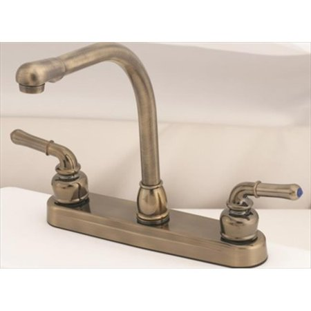 Amer Brass Ab800rsab 8 In Antique Brass Kitchen Faucet Walmart Com