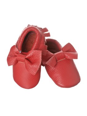 7432ac965868c Product Image Riverberry Unisex Audrey Genuine Leather Infant Toddler and  Baby Fringed Moccasin Shoes