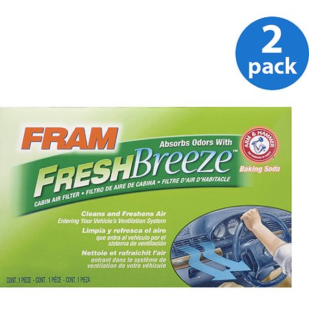 FRAM Fresh Breeze Cabin Air Filter, CF10285 (2-Pack) Bundle (Traverse Cabin Air Filter)
