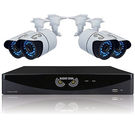 Night Owl 8 Channel Video Security System with 4 hi-resolution 900 TVL Bullet Cameras B-F900-81-4