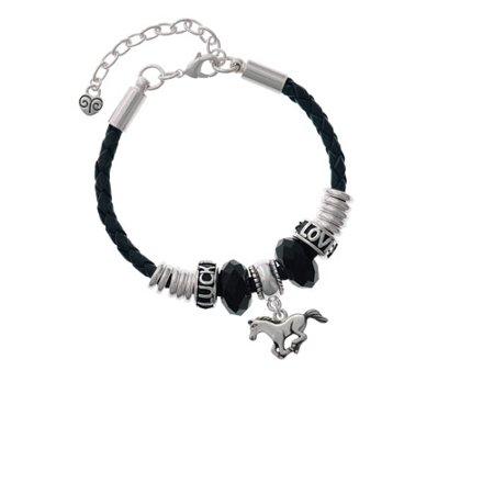 Running Horse Love Luck Leather Bracelet