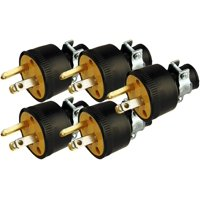 Black Duck Brand Male Extension Cord Replacement Electrical Plug Ends (5 Pack)