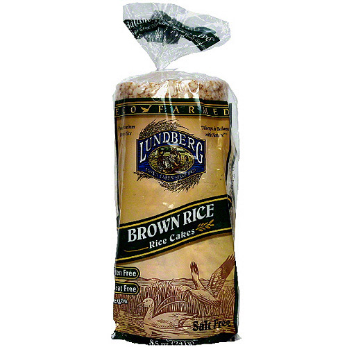 Lundberg Family Farms Eco Farmed Brown Rice Cakes, 8.5 oz (Pack of 12)