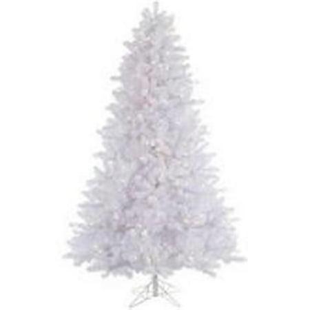 Vickerman Pre-Lit 7.5' Crystal White Pine Artificial Christmas Tree, LED, Warm White Lights