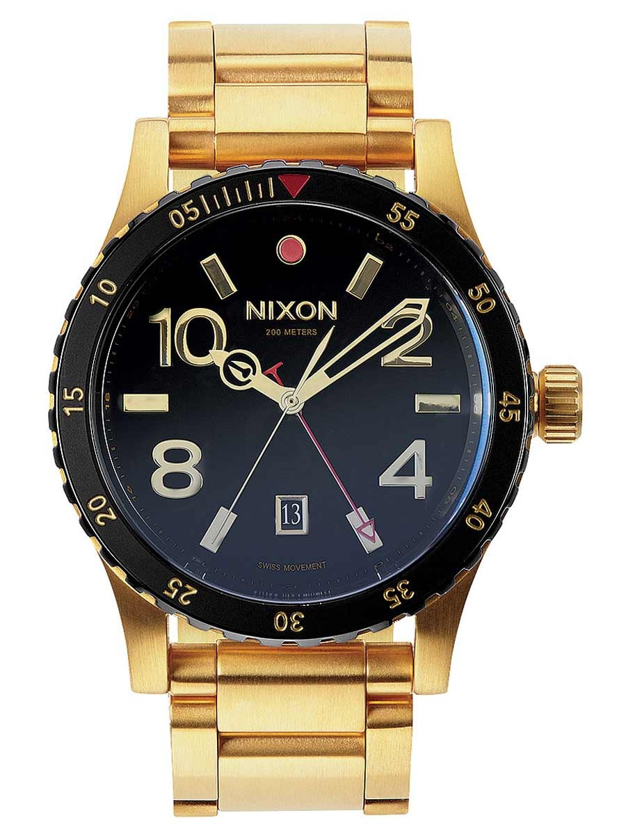 A277513 Men's Diplomat SS Black Dial Yellow Gold Steel Bracelet GMT Dive Watch
