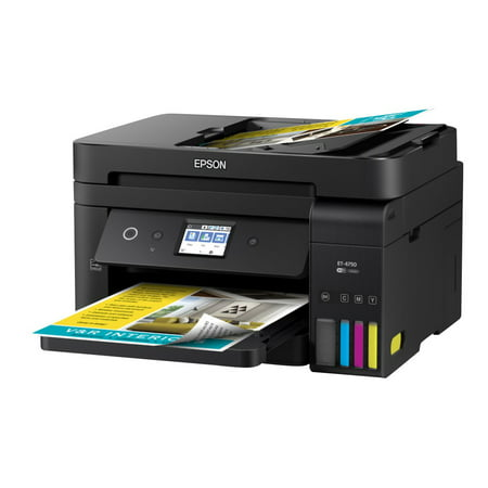 Epson WorkForce ET-4750 EcoTank Wireless Color All-in-One Supertank Printer with Scanner, Copier, Fax and