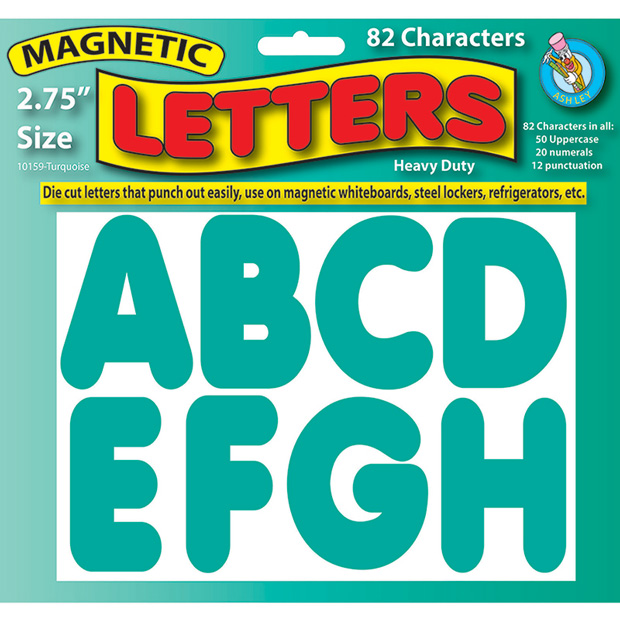 """Magnetic Letters Turquoise 2.75"""""""