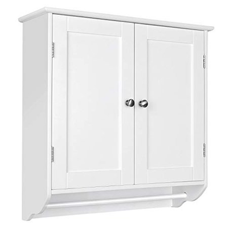 Homfa Bathroom Wall Cabinet Over The, Over The Toilet Wall Cabinet With Towel Bar