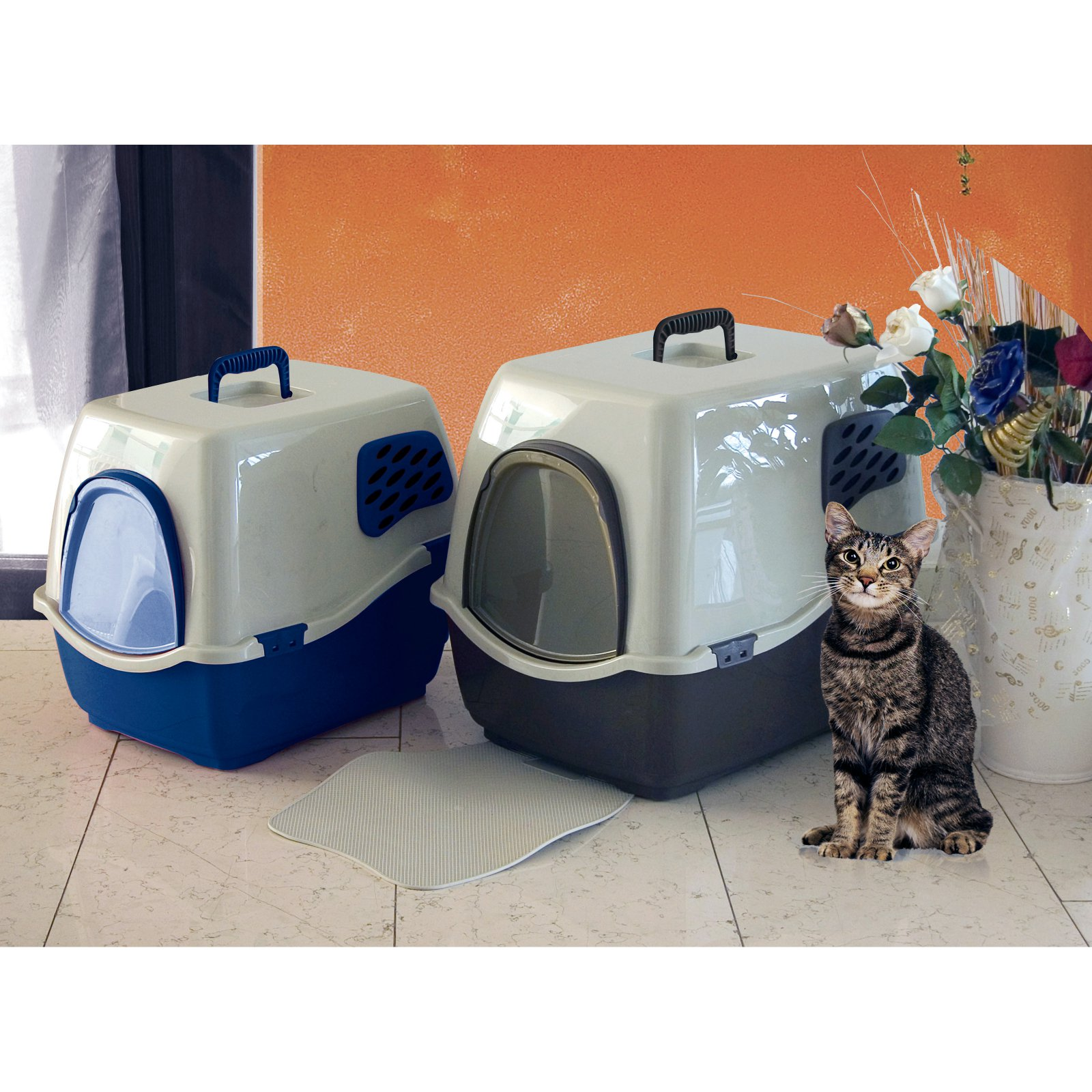 Marchioro Bill 1F Enclosed Cat Litter Pan