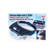 27054-1 Hands Free Magnifier Glasses w/2 LED Lights Multi-Colored