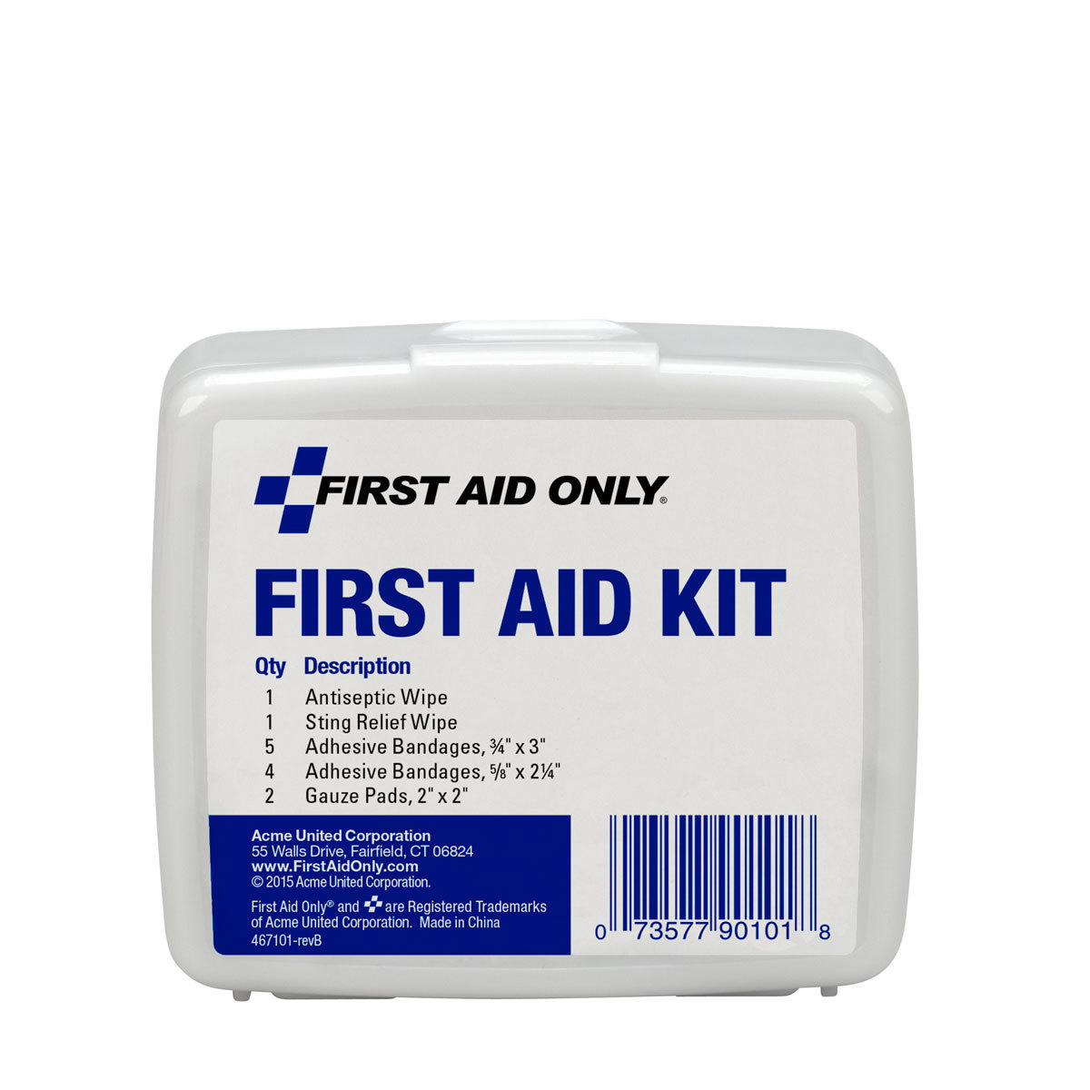 First Aid Only Personal First Aid Kit, Plastic Case, 13 Pc