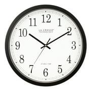 "La Crosse Technology WT-3143A 14"" Atomic Analog Wall Clock, Black"