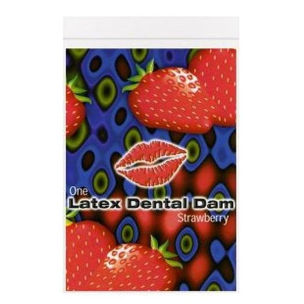 Latex Dental Dam, Strawberry, Flavored By LINE ONE
