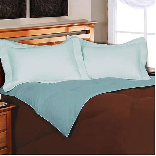 Down Comforter, Reversible Microfiber