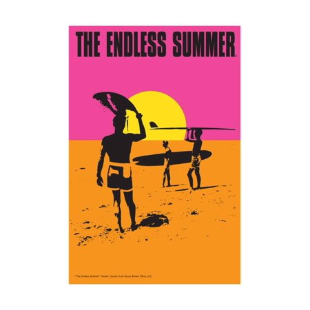 The Endless Summer - Original Movie Poster Vintage 1960s Surfing Print Wall Art By Lantern Press