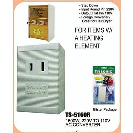 International Voltage Converter 220v To 110v 1600 Watt Use Us Liances Overseas