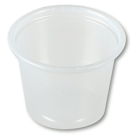 Solo Souffle Cup Translucent Plastic Disposable 1 oz., 2 Cases of 2500 - Souffle Cups