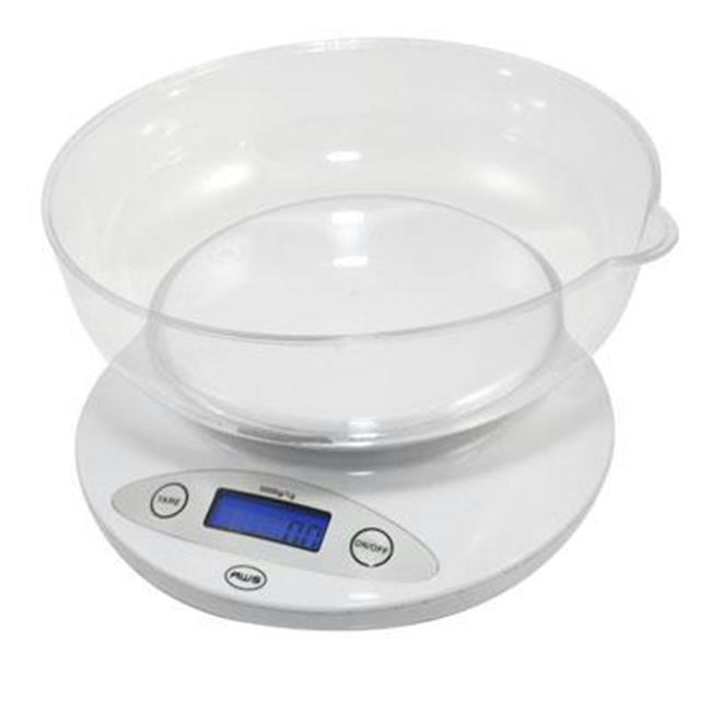 America Weigh Scales Bowl Kitchen Scale, White