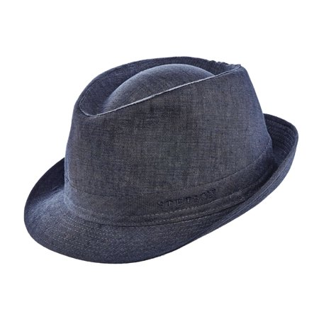 authorized site large discount new cheap Stetson Men's Geneva Linen Fedora Hat Denim M