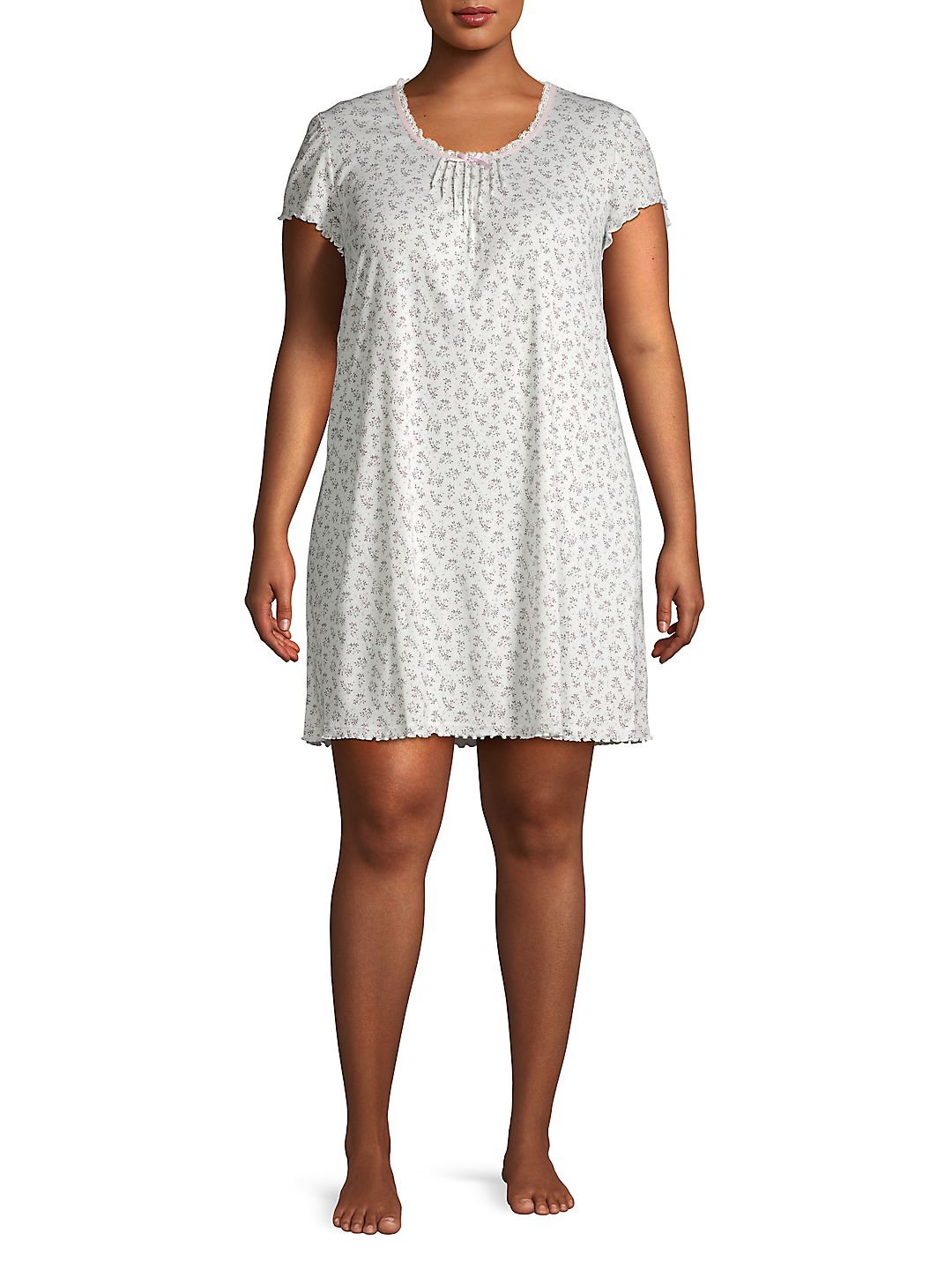 Plus Floral-Print Nightgown