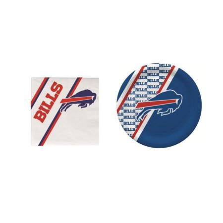 Buffalo Bills 20 Pc Disposable Paper Plates And 20 Pc Disposable Napkins