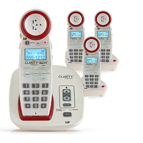 Clarity XLC34 (replaced by XLC3.4+) + (3) XLC35 (replaced by XLC3.6+HS) DECT 6.0 Amplified Cordless Phone