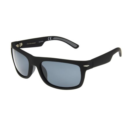 Foster Grant Men's Black Retro Sunglasses GG03 - Black Retro Sunglasses