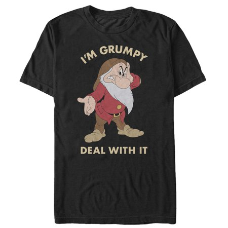 Snow White and the Seven Dwarves Men's Grumpy Deal With It