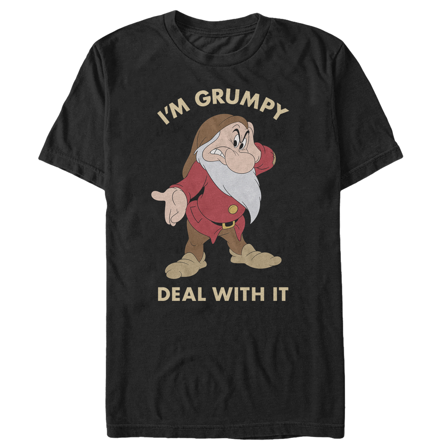 Snow White and the Seven Dwarves Men's Grumpy Deal With It T-Shirt