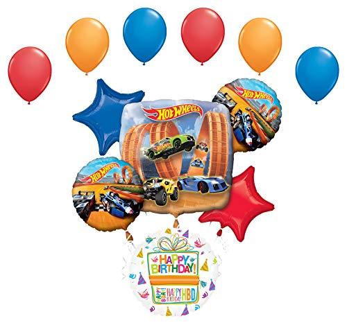 Mayflower Products Hot Wheels Party Supplies Birthday Balloon Bouquet Decorations