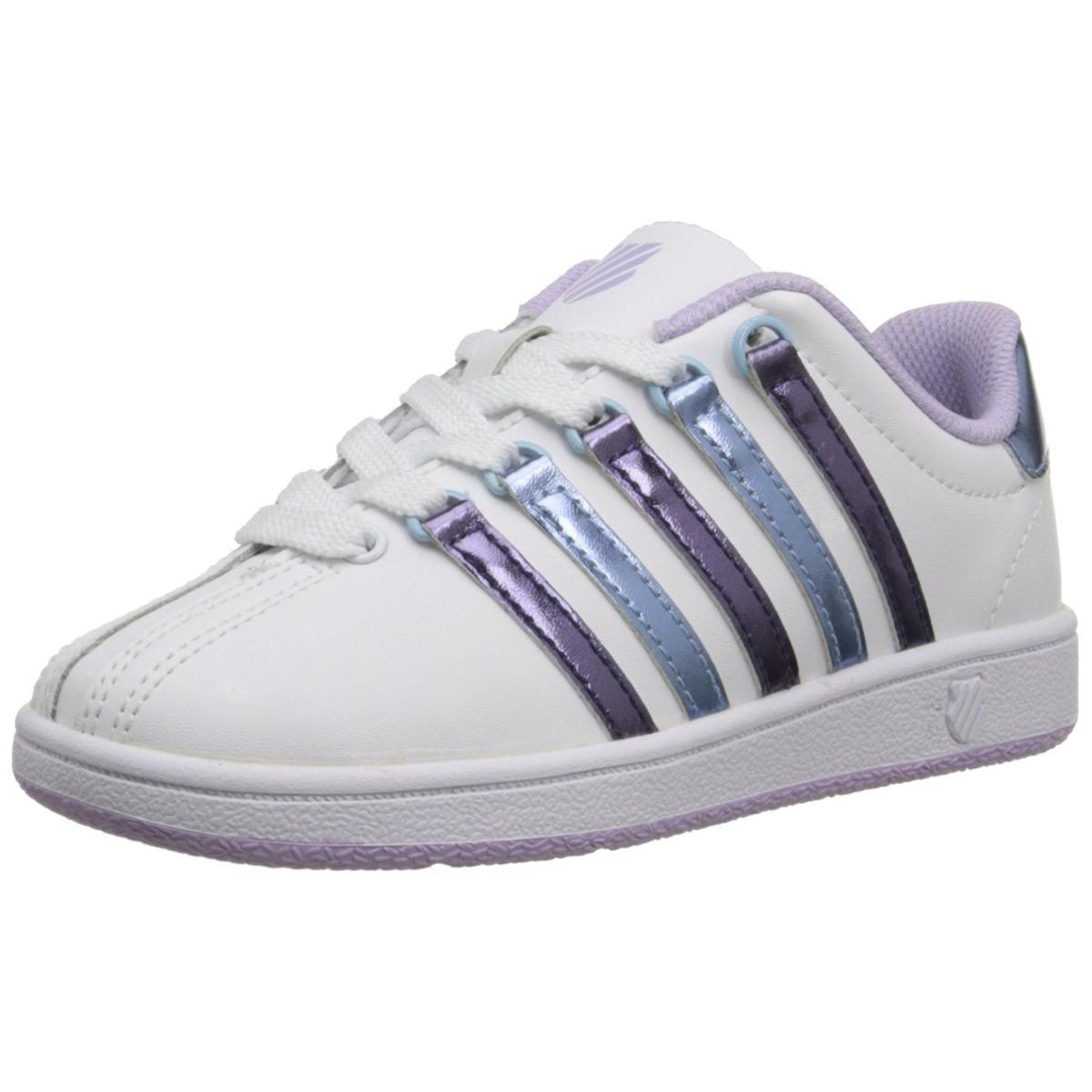 K-SWISS Classic VN Big Kid White/Pastel Lilac/Blue Havana Sneaker