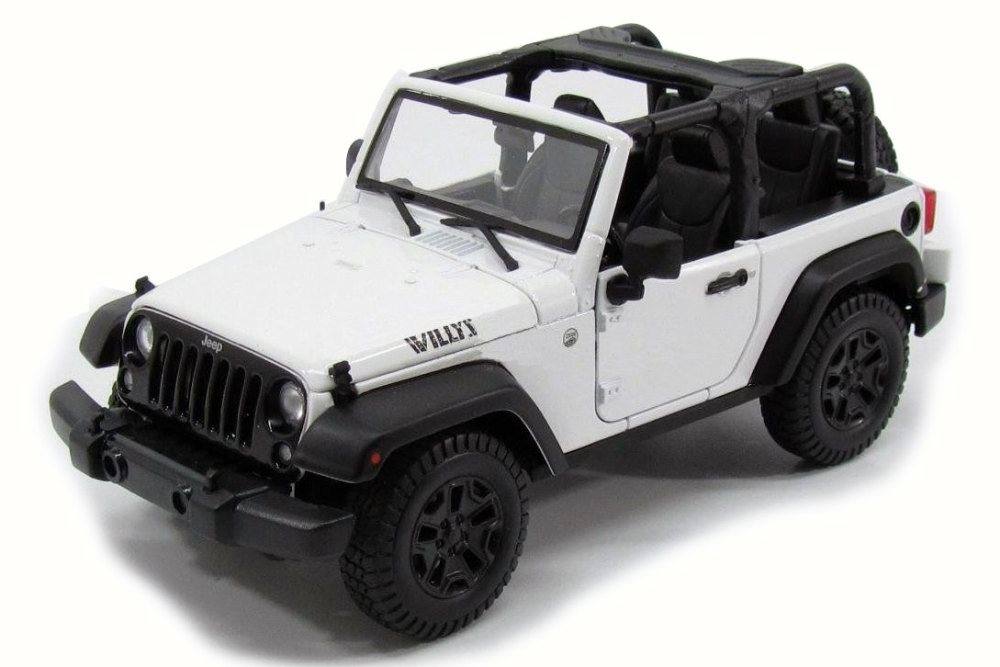 2014 Jeep Wrangler Topless, White Maisto 31610 1 18 Scale Diecast Model Toy Car by Maisto