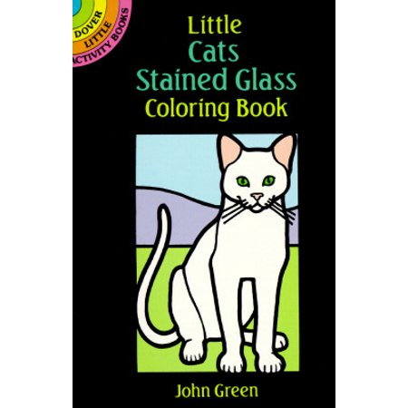 Little Cats Stained Glass Coloring Book - Halloween Coloring Pages Cats