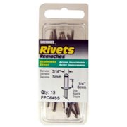 15 Pack Medium Stainless-steel Rivets, FPC, FPC64SS