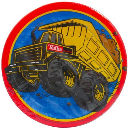 Tonka Construction Small Paper Plates (8ct) - Tonka Truck Party Supplies
