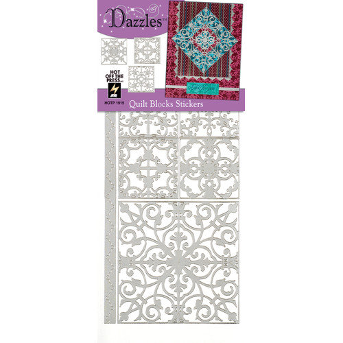 Dazzles Quilt Block Stickers (Set of 4)