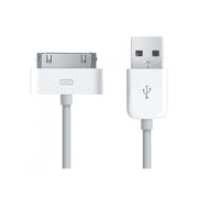 30 pin to USB Sync and Charging Cable for Apple iPhone 4, iPhone 4s / iPhone 3G / 3GS / iPad 2, iPad 3 / iPod 1, 2, 3, 4, 5, 6 (White)