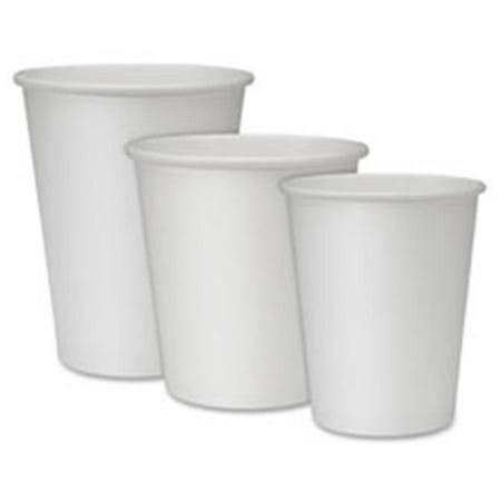 Genuine Joe GJO19045CT Hot Cups, Single, 8oz., 1000-CT, White