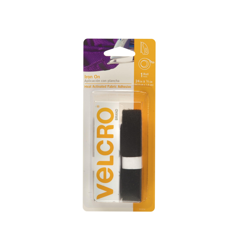 VELCRO® Brand Iron On 24in x 3/4in Roll, Black