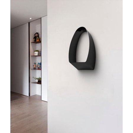 Decorpro D10204 Loop Designer Cubby Coat Hook With Storage   Black