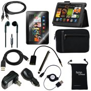 """DigitalsOnDemand ® 12-Item Accessory Bundle Kit for Amazon Kindle Fire HDX 8.9"""" - Leather Case, Sleeve Cover, Screen Protector, Stylus Pen, USB Cables + Chargers (only fit Kindle Fire HDX 8.9 Inch)"""