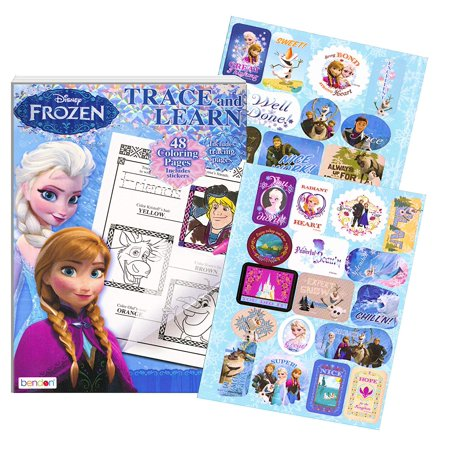 Disney Frozen:Trace and Learn Activity Book with (Learning Stickers)