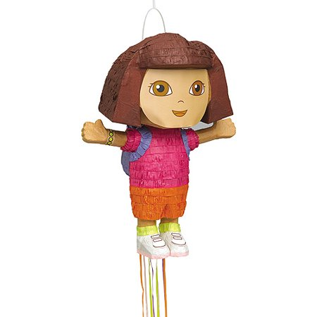 Dora the Explorer Pinata, Pull String, 19.5 x 14 in, - Dora Party Ideas