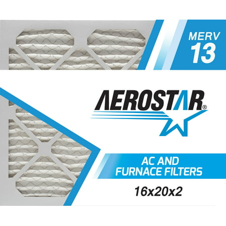 Box Furnace (16x20x2 AC and Furnace Air Filter by Aerostar - MERV 13, Box of 6)