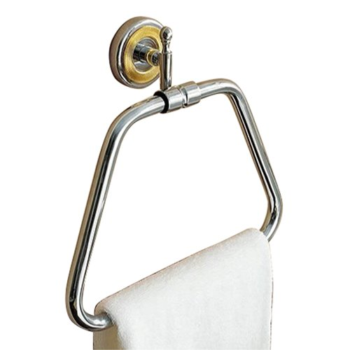 Toscanaluce by Nameeks 6517 Towel Ring - Chrome and Gold
