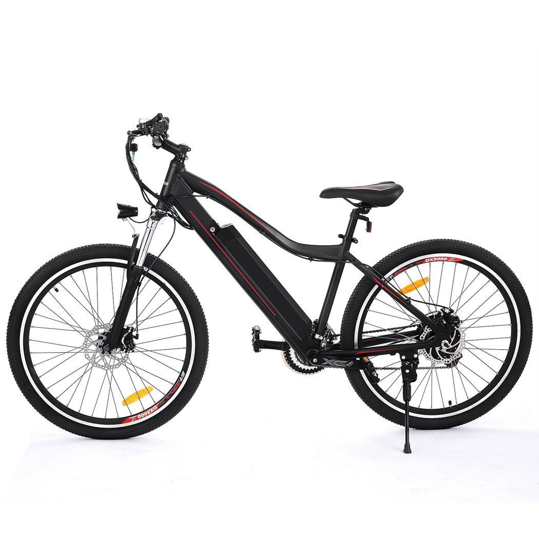 Cdicount 26'' Electric Bike Folding Aluminum Bike Bicycle with Removable Lithium Battery 36V 12A