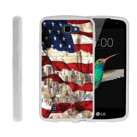 Flexible Case for LG K4 | LG Rebel LTE Case [ Flex Force ] Lightweight Flexible Phone Case - American Flag (Rebel Flag Accessories)
